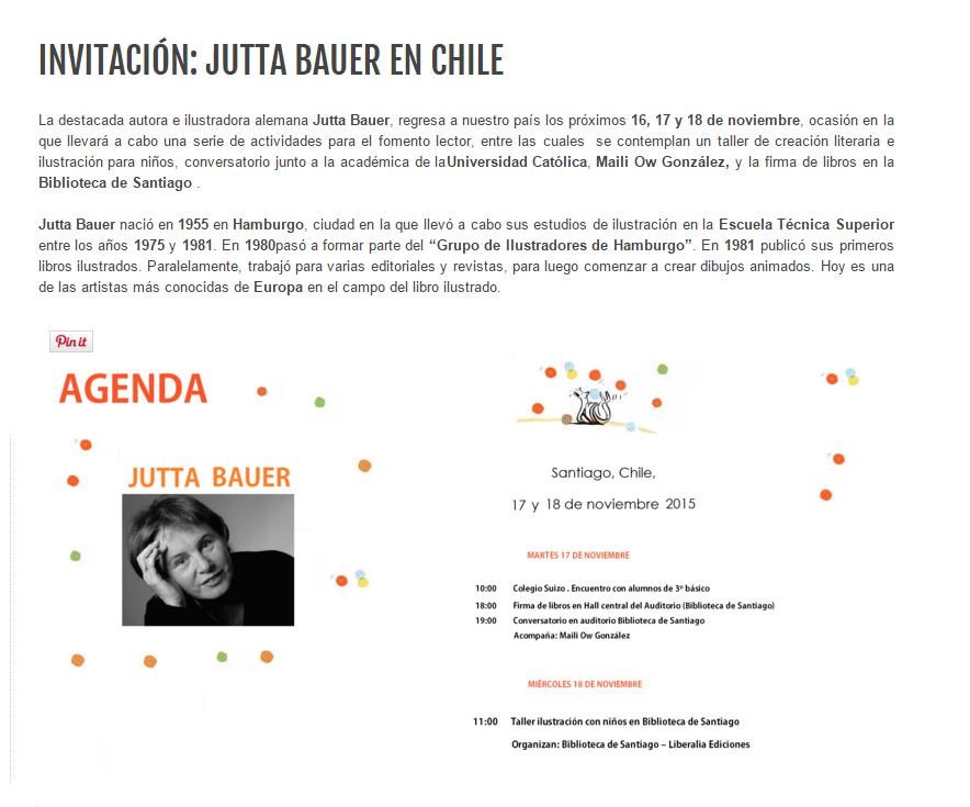 Invitación: Jutta Bauer en Chile